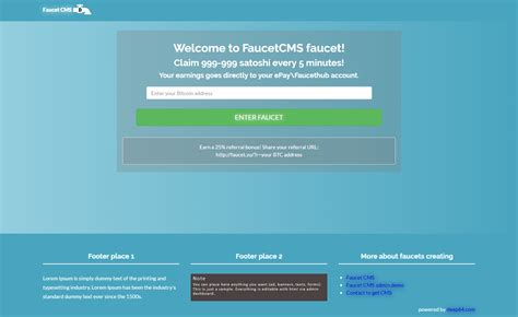 free faucet script faucetcms the most user friendly