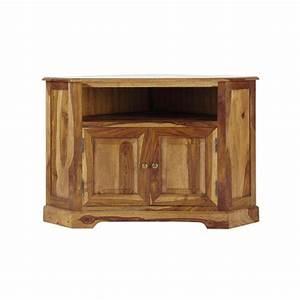 Tv 105 Cm : meuble tv d 39 angle en bois de sheesham massif l 105 cm luberon maisons du monde ~ Teatrodelosmanantiales.com Idées de Décoration