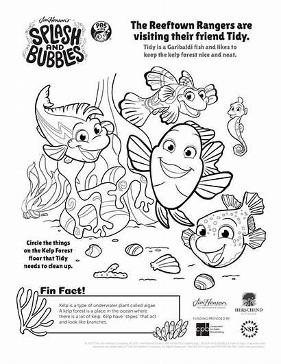 Coloring Splash Pbs Pages Bubbles Ocean Printable