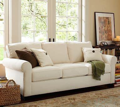 pottery barn sleeper sofa buchanan upholstered sleeper sofa polyester wrap cushions