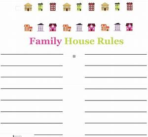 family house rules template the intentional mom With house rules chart template