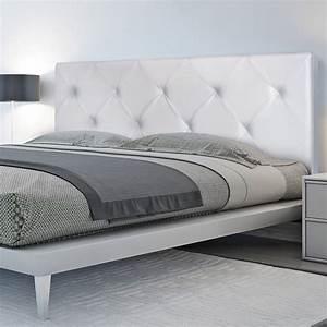 Photo Tete De Lit : t te de lit capitonn e pvc blanc 160x58 cm accessoires maison et d ~ Dallasstarsshop.com Idées de Décoration