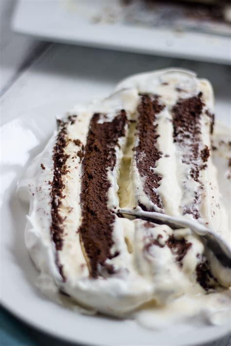 easy chocolate vanilla ice cream cake  ice cream