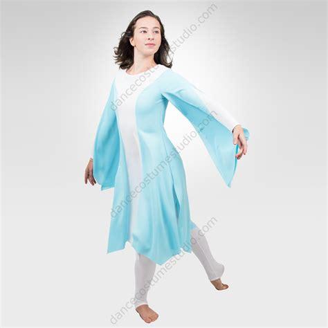 light blue lyrical costume liturgical praise dancewear performing design studio