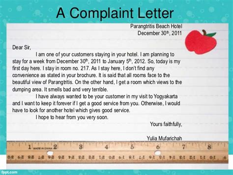 writing complaint letter