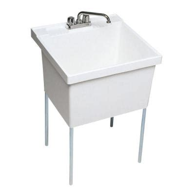 swanstone utility sink home depot swan 22 1 2 in x 23 in veritek single basin laundry tub