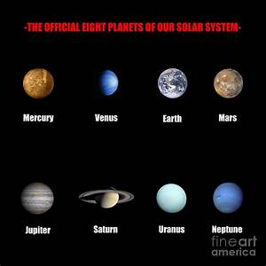 The Official Eight Planets Of Our Solar System Digital Art ...
