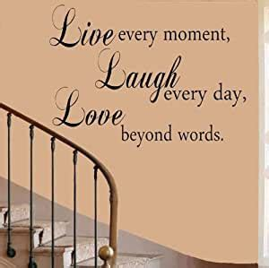 Our guests also loved the decor. Amazon.com: Live Laugh Love Butterfly Quote Wall Art Decal Sticker 17 Colours Available: Kitchen ...