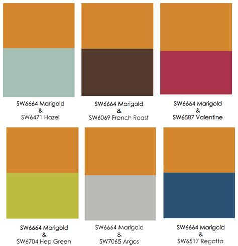 color pairings with orange color to balance it out
