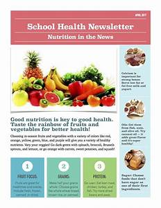 April 2017 school health newsletter ellenboro elementary for Health and wellness newsletter template