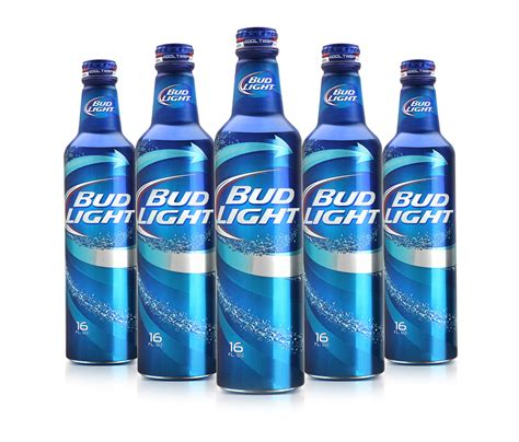 bud light beer bottle aluminum bottle for beer manufactory shining aluminum