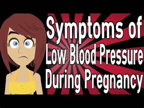 light headed blood pressure symptoms of low blood pressure during pregnancy youtube
