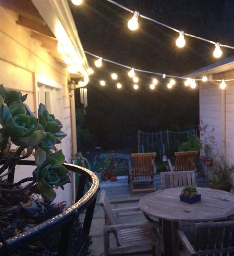 String Patio Lights by The Best Exterior String Lights Ideas Homesfeed
