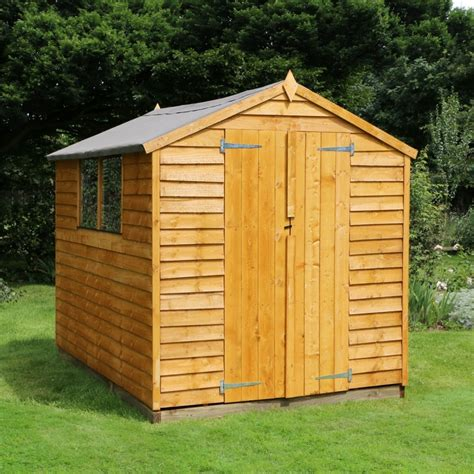 garden sheds for 8 x 6 overlap apex wooden garden shed a delivery slot
