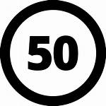Limit Speed Icon Sign Clipart Number Icons