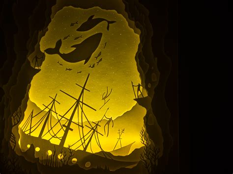 paper cut light box illuminated cut paper light boxes by hari deepti colossal