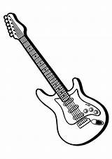 Guitar Coloring Pages Drawing Electric Colouring Guitars Bass Colorful Rock Outline Drawings Ones Patterns Clipart Momjunction Pencil Sheet Visit Cnc sketch template