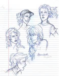 Percy Jackson and Annabeth Chase Drawings