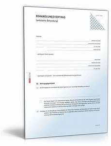 Heilpraktiker Rechnung : behandlungsvertrag vorlage zum download ~ Themetempest.com Abrechnung