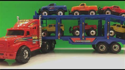 Monster Truck Hauler Hauls 6 Six 4x4 Monster Truck Toys