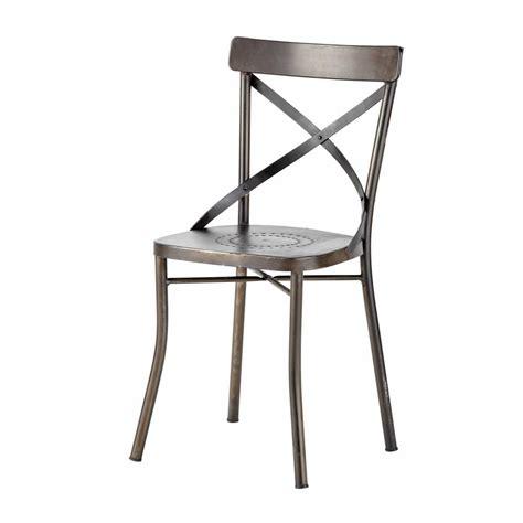 chaise en métal chaise de jardin en métal tradition maisons du monde