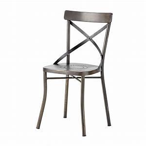 Chaise De Jardin Metal : chaise de jardin en m tal noire tradition maisons du monde ~ Dailycaller-alerts.com Idées de Décoration