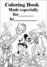 Coloring Barbie Personalised Colouring Sheets Sheet Printable Covers Own Disney Making sketch template