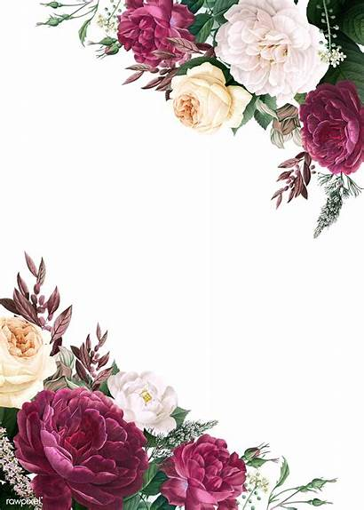 Invitation Floral Burgundy Transparent Invitations Mockup Flower