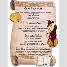 Good Luck Magick Spell  Spell Ideas  Luck Spells, Magick Spells, Good Luck Spells