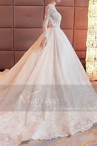 Robe de mariee 2018 manche longue dos nu en dentelle for Robe de mariée dentelle dos