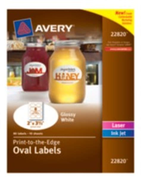 avery template 22820 marketing solutions avery 174 print to the edge oval labels 22820 glossy white 2 quot x 3 1 3 quot pack