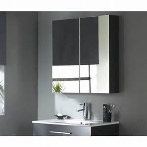 modele meuble haut de salle de bain avec miroir With salle de bain design avec meuble haut sdb