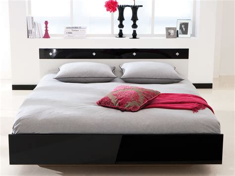 hauteur meuble cuisine lit noir blanc laqué 140x190cm