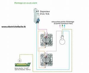 Branchement Electrique Volet Roulant Sur Prise De Courant : cablage simple allumage et va et vient lumineux schneider ~ Dailycaller-alerts.com Idées de Décoration