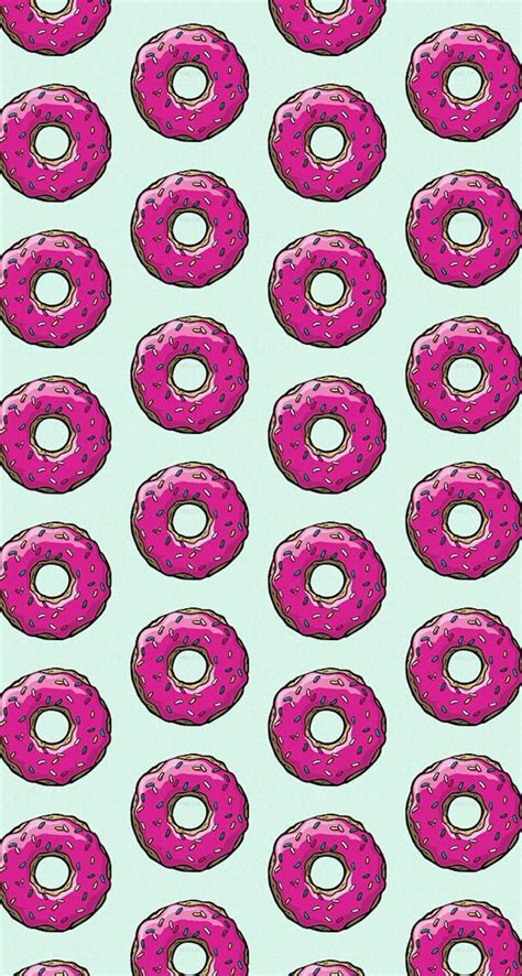 Donuts wallpapers is a new app provides with kawaii cute wallpapers of donuts to decorate you phone if categories : #simpsons #donuts #pattern #wallpaper | Phone wallpapers tumblr, Cute wallpaper for phone, Cute ...