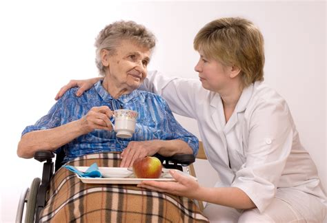 care worker with elderly lady next step marketing