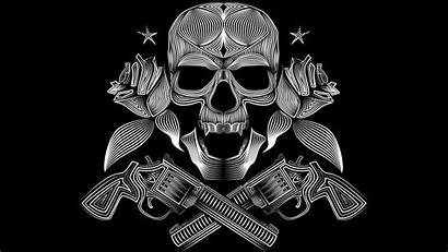 Skull Gangster Wallpapers Gun Gangsters Cave Vector