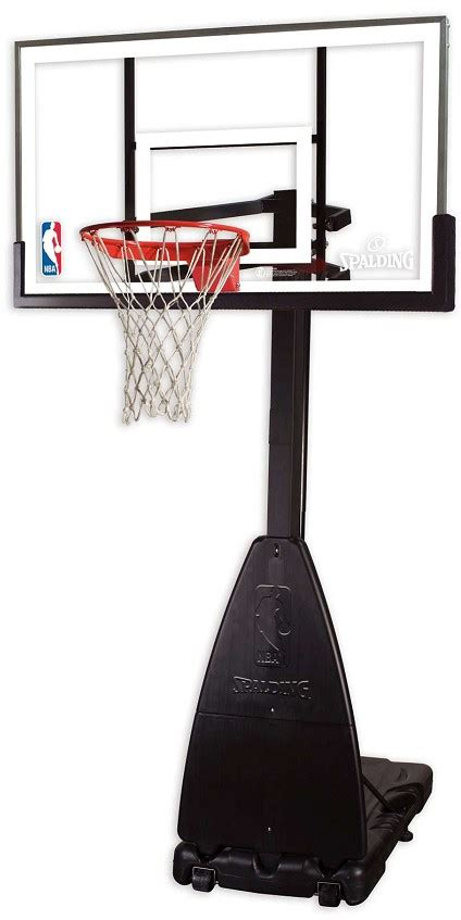 spalding   glass portable residential basketball hoop