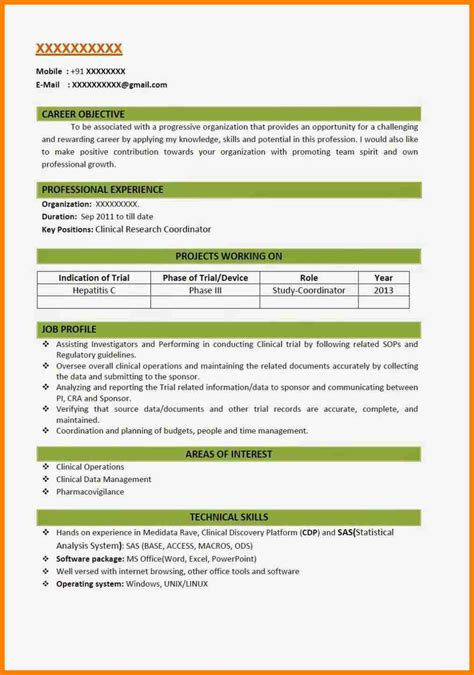 Proper Resume Format by Resume Template 2018 Fee Schedule Template