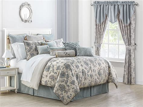 valerie sea blue  waterford luxury bedding