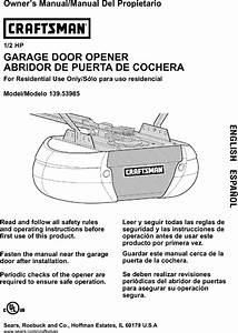 Craftsman Garage Door Opener 1 2 Hp Manual Pdf