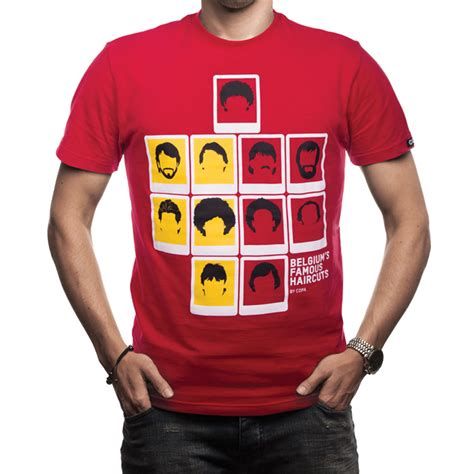 COPA Football - Belgium's Famous Haircuts T-Shirt - Red ...
