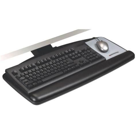 adjustable keyboard tray for desk 3m akt60le adjustable ergonomic under desk mount keyboard tray