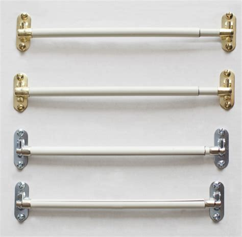 "Sidelight Curtain Sash Rods 4"" To 12""(pair) Available In"