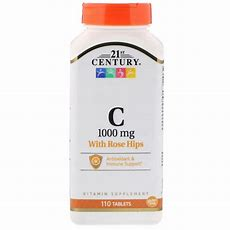 21st Century, Vitamin C, With Rose Hips, 1000 Mg, 110