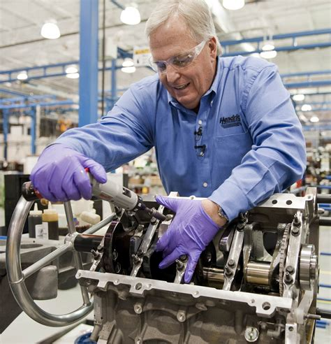 rick hendrick hand builds  corvette  engine