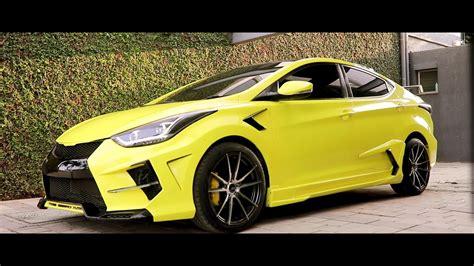 This Custom Hyundai Elantra Gets Lamborghini-Inspired Mods ...
