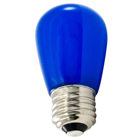 frosted blue led s14 professional series light bulbs 25 pack