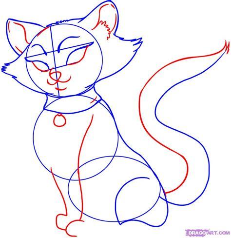 draw  cartoon cat step  step cartoon animals