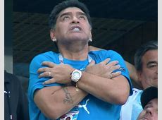 Diego Maradona wildly celebrates Lionel Messi goal as